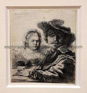 Rembrandt, autoritratto con la moglie
